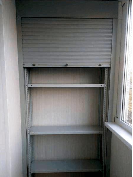 шкаф из ЛДСП с рольставнями