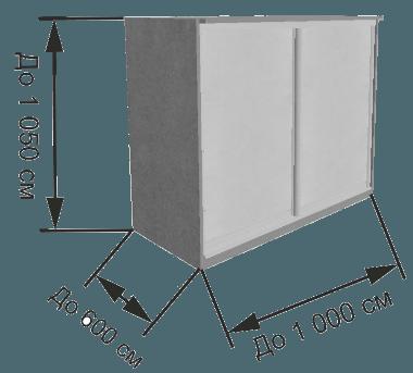 тумба из алюминиевого профиля