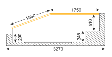 размеры лоджии лодочка п44т