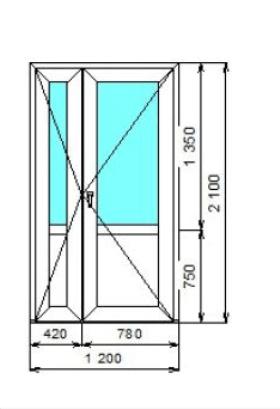 Двухстворчатые двери со штульпом