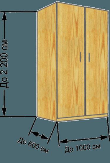 Шкаф на балкон - стандартный