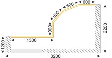 размеры балкона Большой эркерный Сапожок П-3М