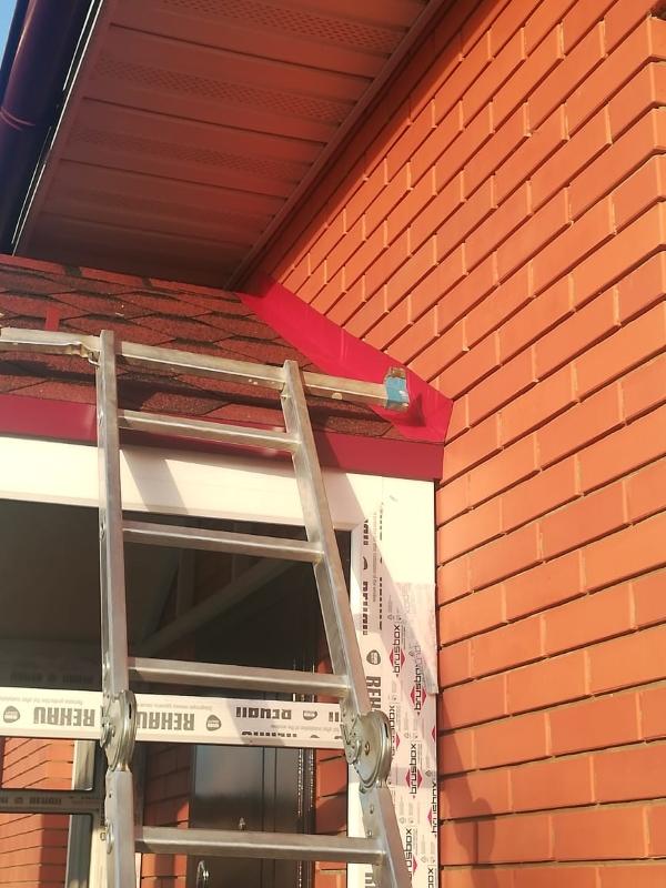 обустройство крыши входной группы в коттедж