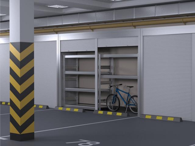 Шкаф в паркинг с рольставнями