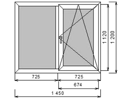 окно ПВХ двухстворчатое