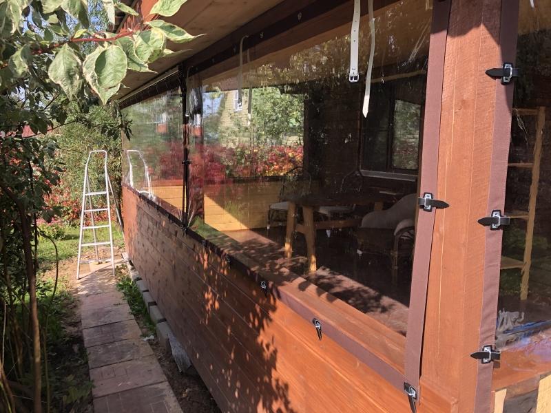 мягкие окна на силиконовых ремешках для веранды