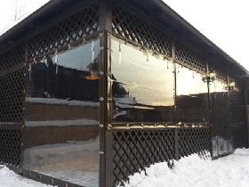 морозоустойчивые мягкие окна для террасы
