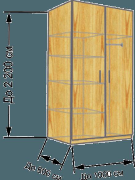 размеры шкафа на балкон