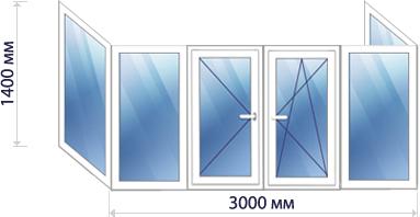 Схема П-образного балкона