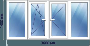 трехметровая лоджия теплое остекление