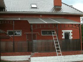 Остекление веранды поликарбонатом
