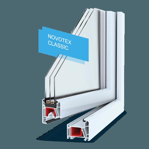 Окно пластиковое расчет стоимости Novotex 58