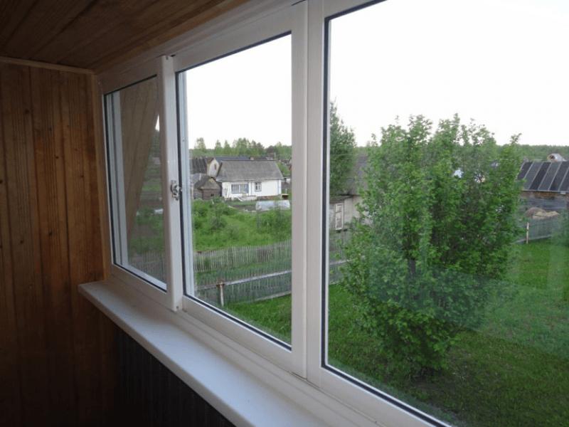 Раздвижные окна для дачи стандарт