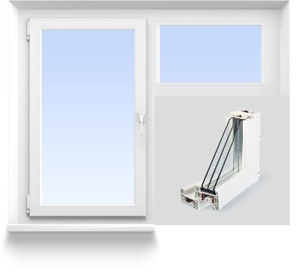 Стандартная комплектация Г-образного окна