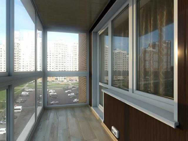 панорамное холодное остекление балкона