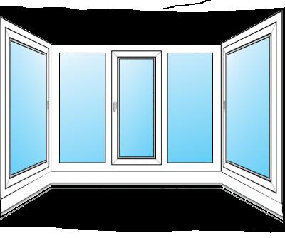 П-образное остекление балкона